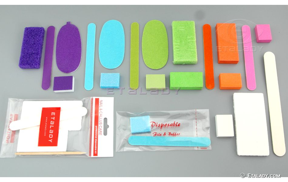 Disposable Nail Kit Manufacturer, Manicure Nail Buffer Block - Etalady